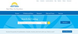 Homepage of jaxpubliclibrary.org